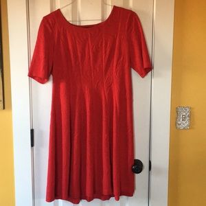 Fun red knee length dress